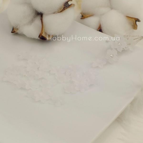 Акрилові квіти 7мм , біло-прозорі