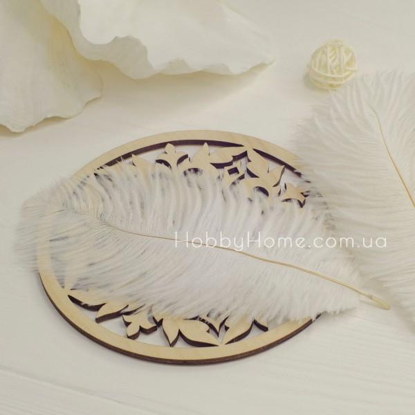 Страусине перо 15-20см біле