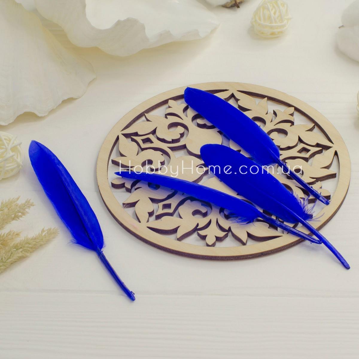 Гусяче перо 10-15см синє