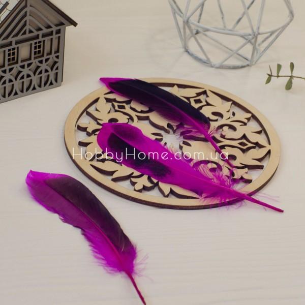 Качине перо 12-15см фіолетовий градієнт