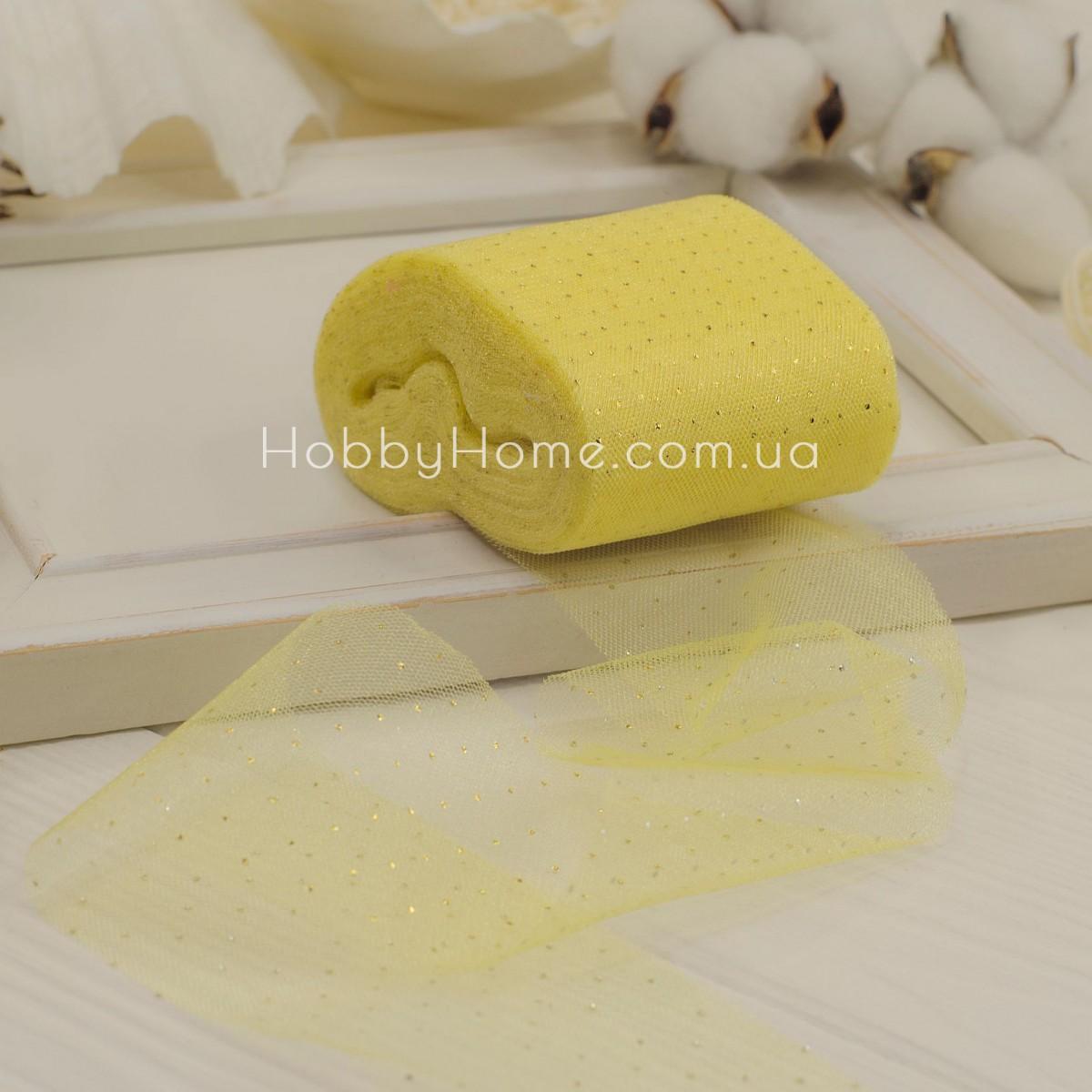 Фатин м'який Золотий горох 5,5см жовтий