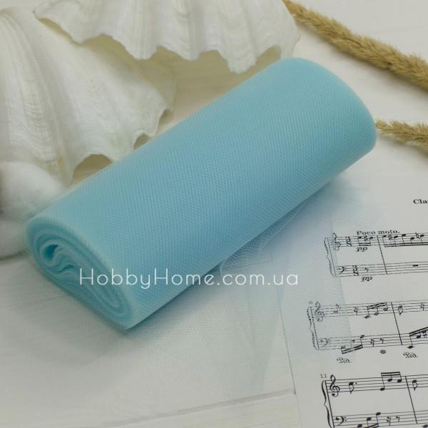 Фатин жорсткий однотонний 15см , ніжно блакитний