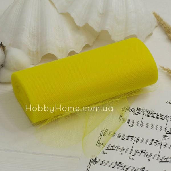 Фатин жорсткий однотонний 15см , жовтий