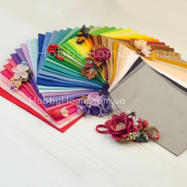 Набір корейського м'якого фетру 1,2 мм 42 кольори