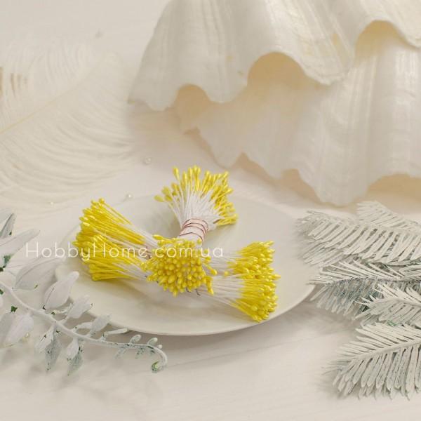 Тычинки глянец пучок 1мм длинные , лимонный