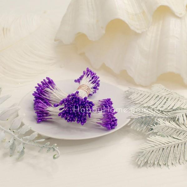 Тычинки глянец пучок 1мм длинные , фиолетовый