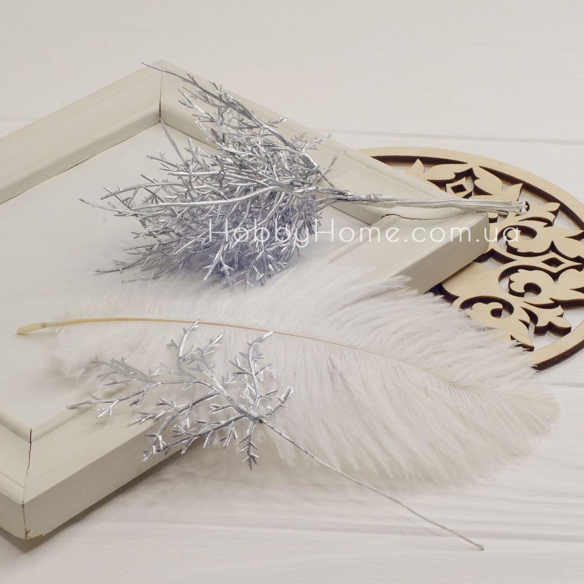 Гілка Туї декоративна 15см , срібло