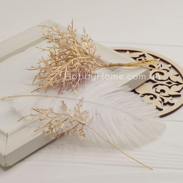 Гілка Туї декоративна 15см , золота