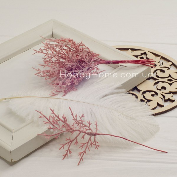 Гілка Туї декоративна 15см , бордова
