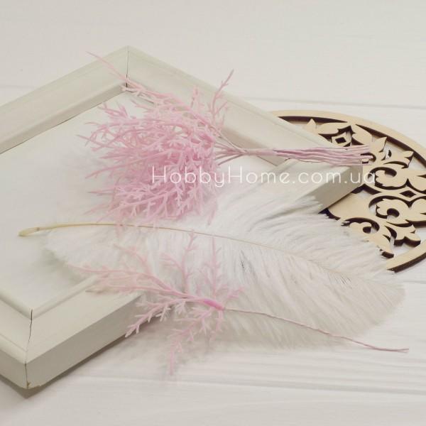 Гілка Туї декоративна 15см , ніжно рожева