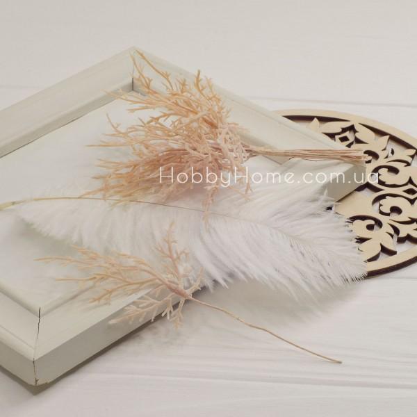 Гілка Туї декоративна 15см , беж