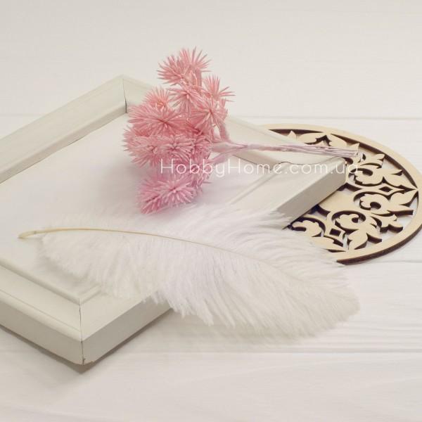 Ветка хвои искусственная , розовая