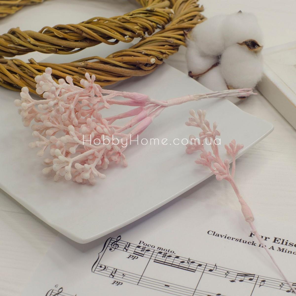 Бруньки на гілці маленькі з напиленням 16см , ніжно рожеві
