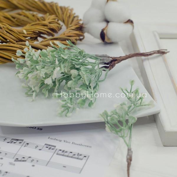 Гілка з листям Сердечка 17см , світло зелена