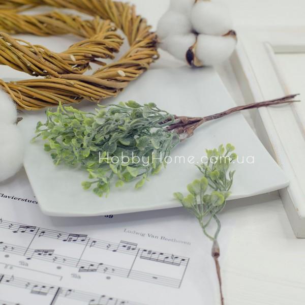 Гілка з листям Сердечка 17см, зелена