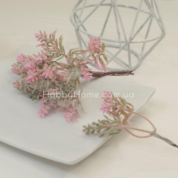 Гілка декоративна Квітковий градієнт 14см , рожева