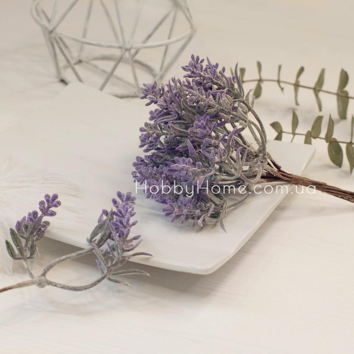 Гілка декоративна Квітковий градієнт 14см , фіолетова