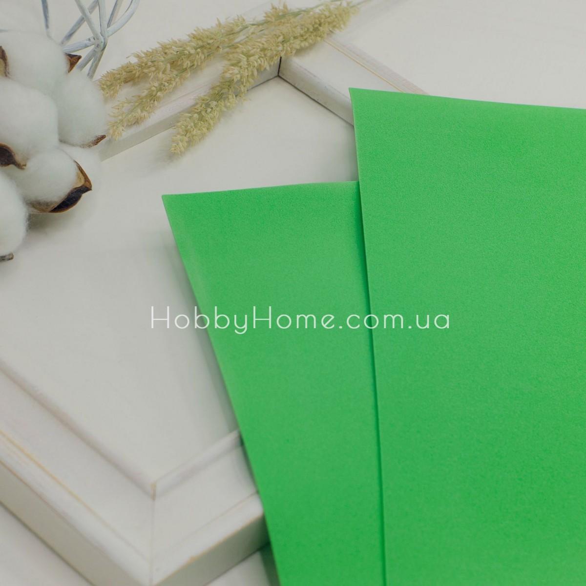 Фоамиран иранский 60х70 Светло зелёный