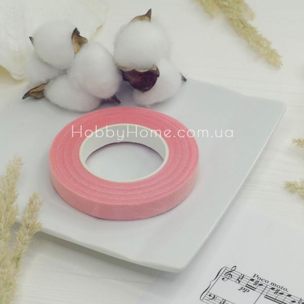 Тейп стрічка флористична 30 метрів , ніжно рожева