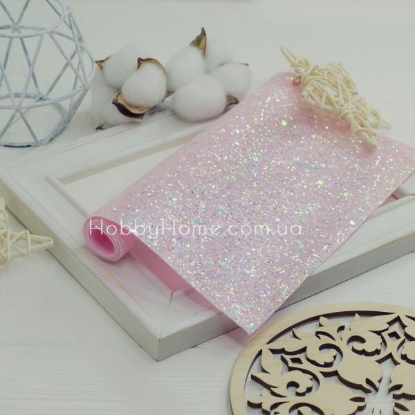 Крупний гліттер Геометрія з переливом , рожевий