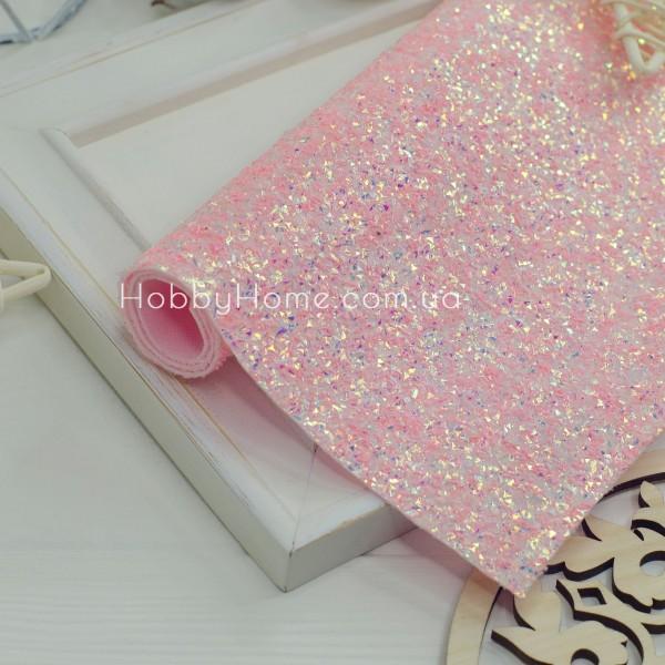 Шкірзам колотий Лід , ніжно рожевий з переливом
