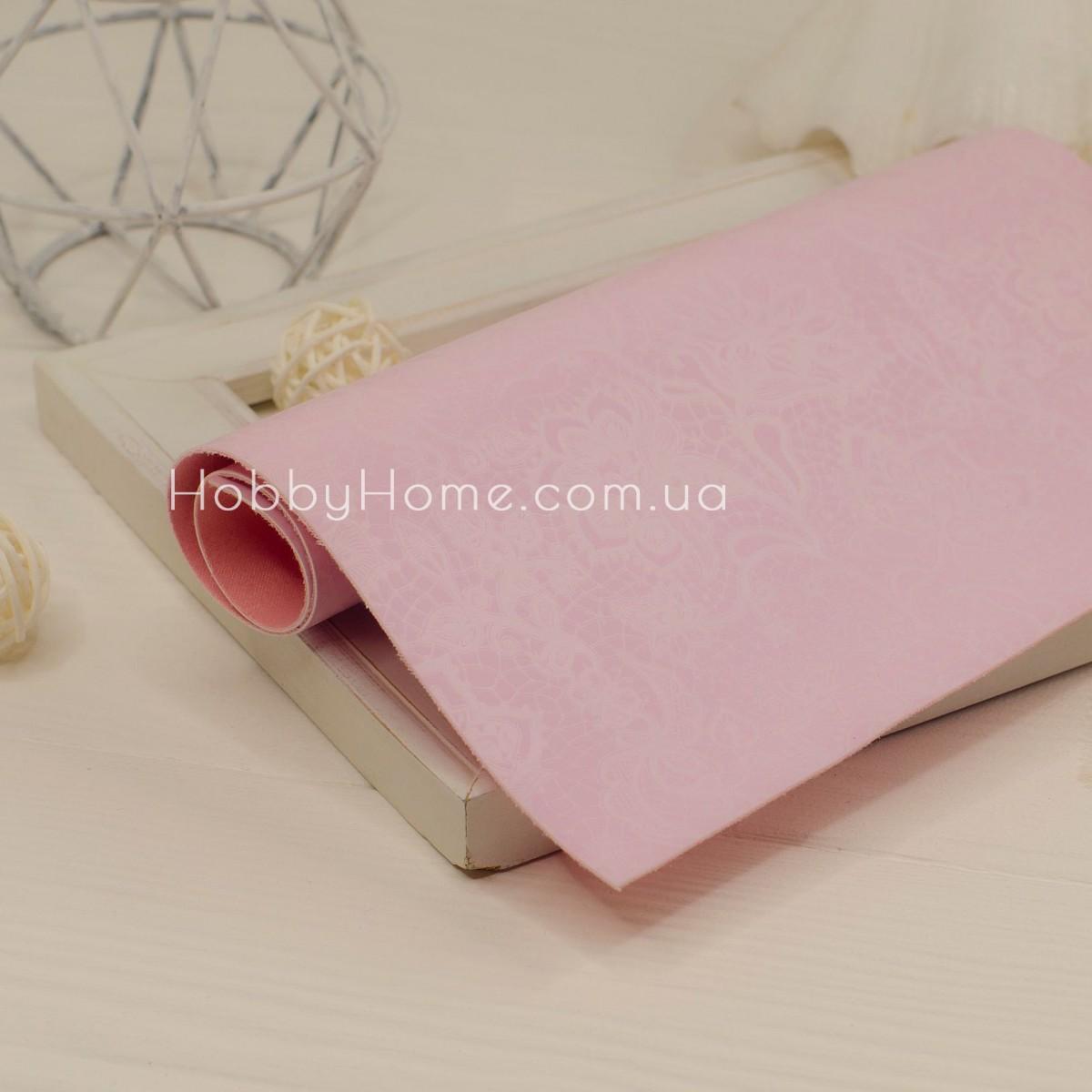 Шкірзам Ажурний , рожевий