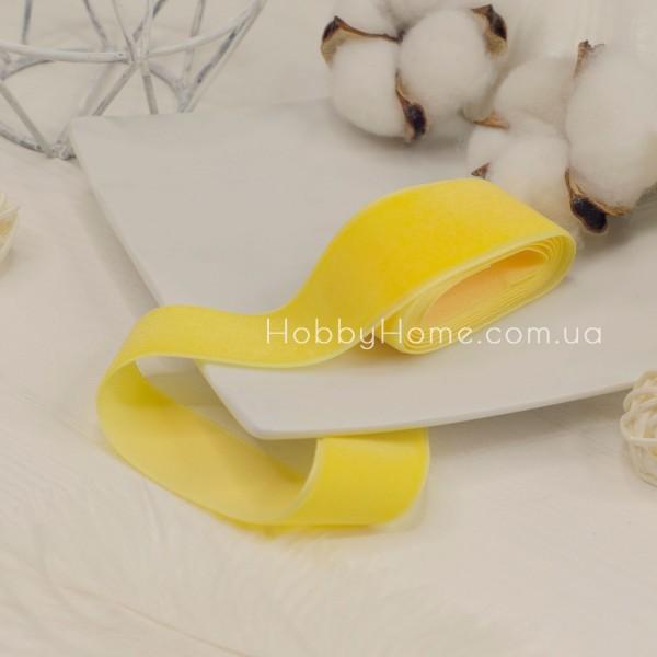 Стрічка оксамитова 2,5см , жовта