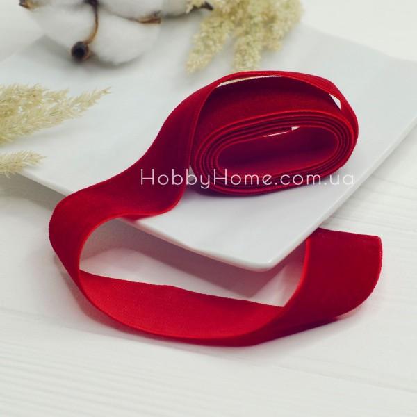 Стрічка оксамитова 2,5см , червона
