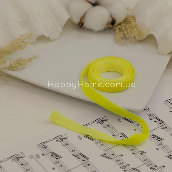 Стрічка оксамитова 1см , жовта