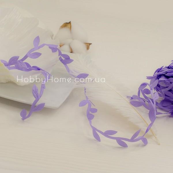 Грецька стрічка з листочками , фіолетова