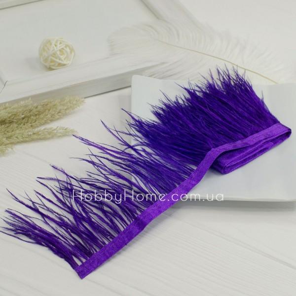 Пір'яна стрічка страуса 8-9см , фіолетова