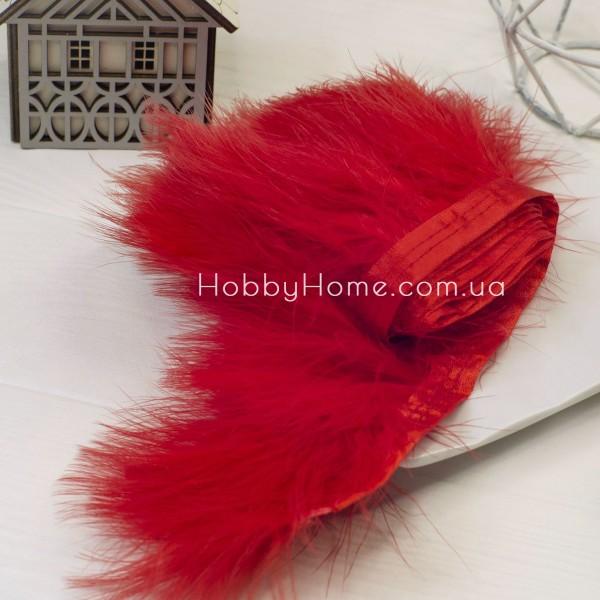 Пір'яна стрічка Марабу 8-10см , червона