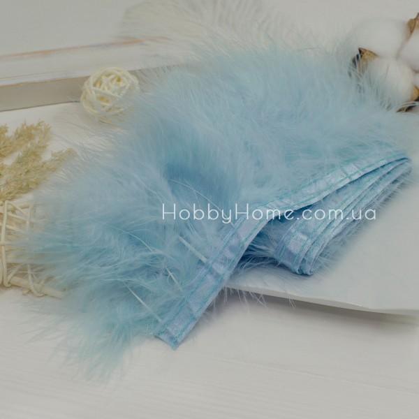 Пір'яна стрічка Марабу 8-10см , блакитна