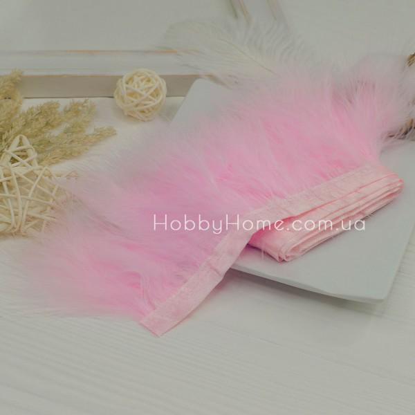 Пір'яна стрічка Марабу 8-10см , ніжно рожева