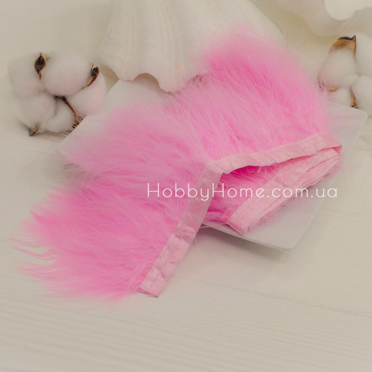 Пір'яна стрічка Марабу 8-10см , рожева