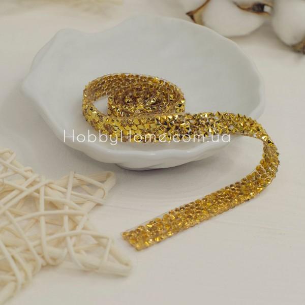 Стразова стрічка, золота