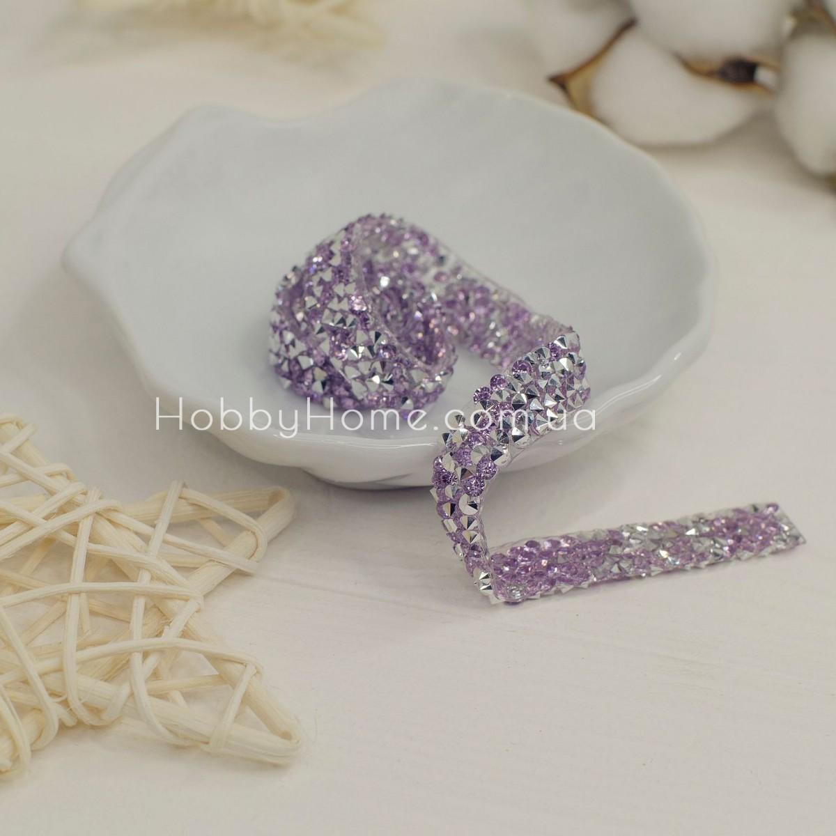 Стразова стрічка , фіолетовий і срібло