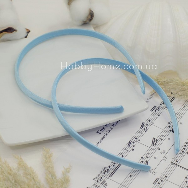 Обруч пластик в атласі 0.9мм Блакитний
