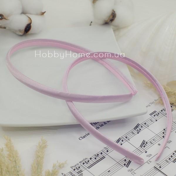 Обруч пластик в атласі 0.9мм Рожевий