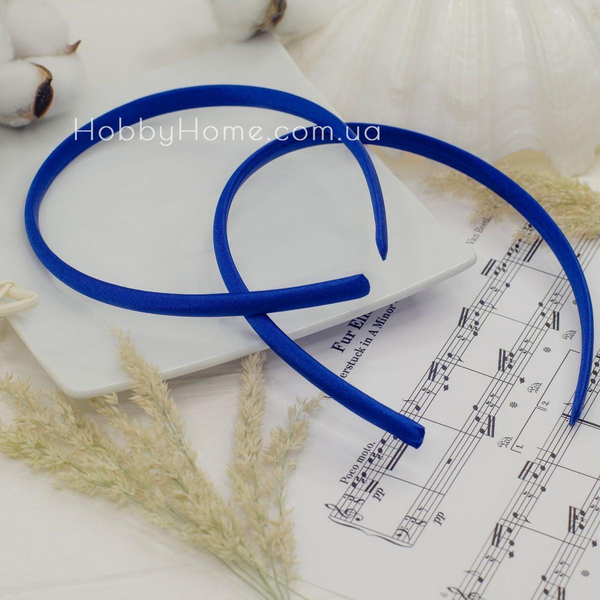 Обруч пластик в атласі 0.9мм Синій