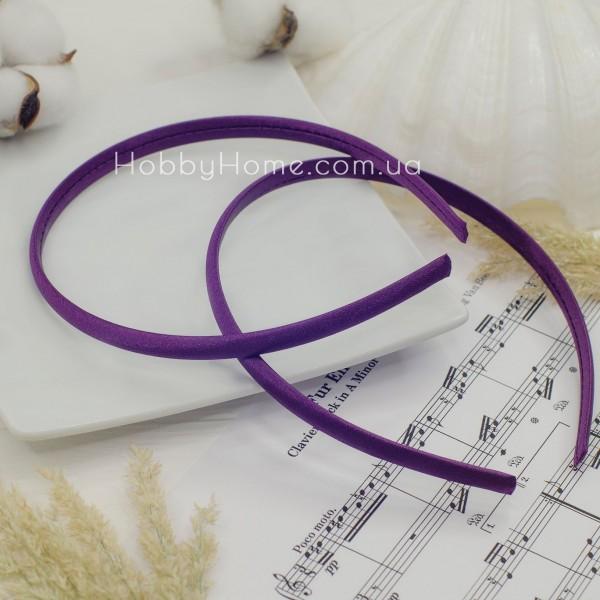 Обруч пластик в атласі 0.9мм Пурпур