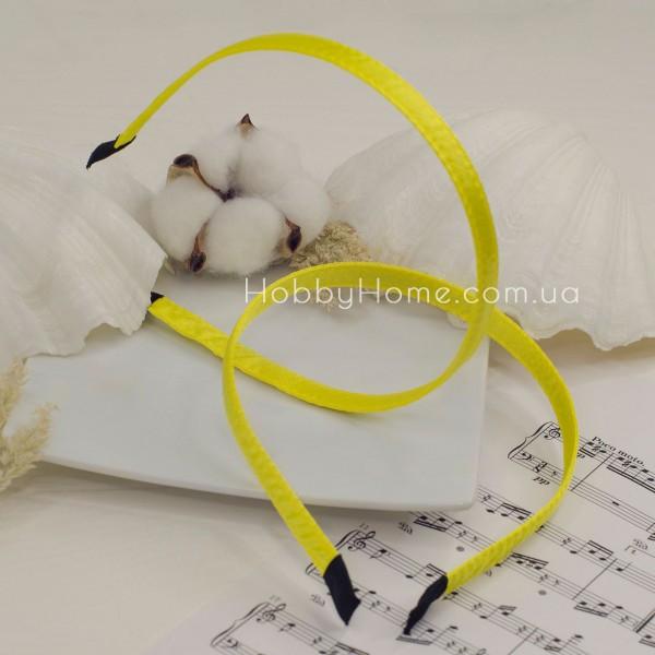 Обруч основа метал в тканини 1см жовтий