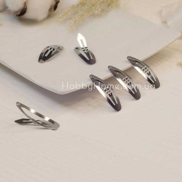 Основа клік-клак овальна 4см срібло