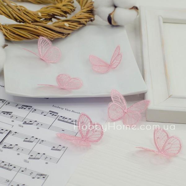 Бабочки ажурные , розовые