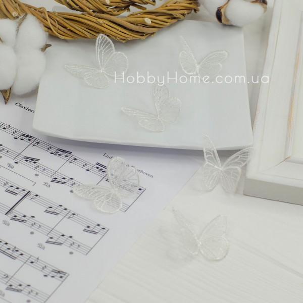 Бабочки ажурные , белые