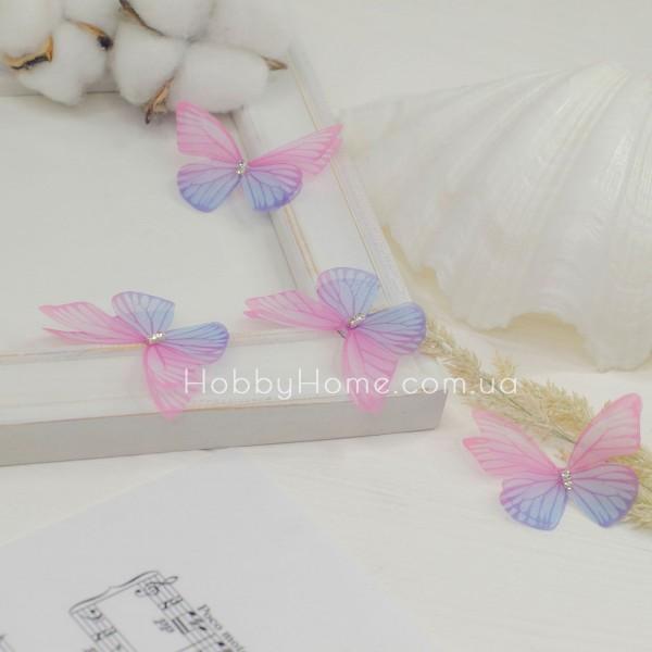 Метелики шифонові , рожеві з бузковим