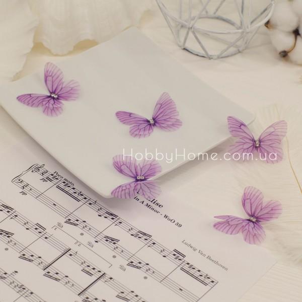 Метелики шифонові , фіолетові