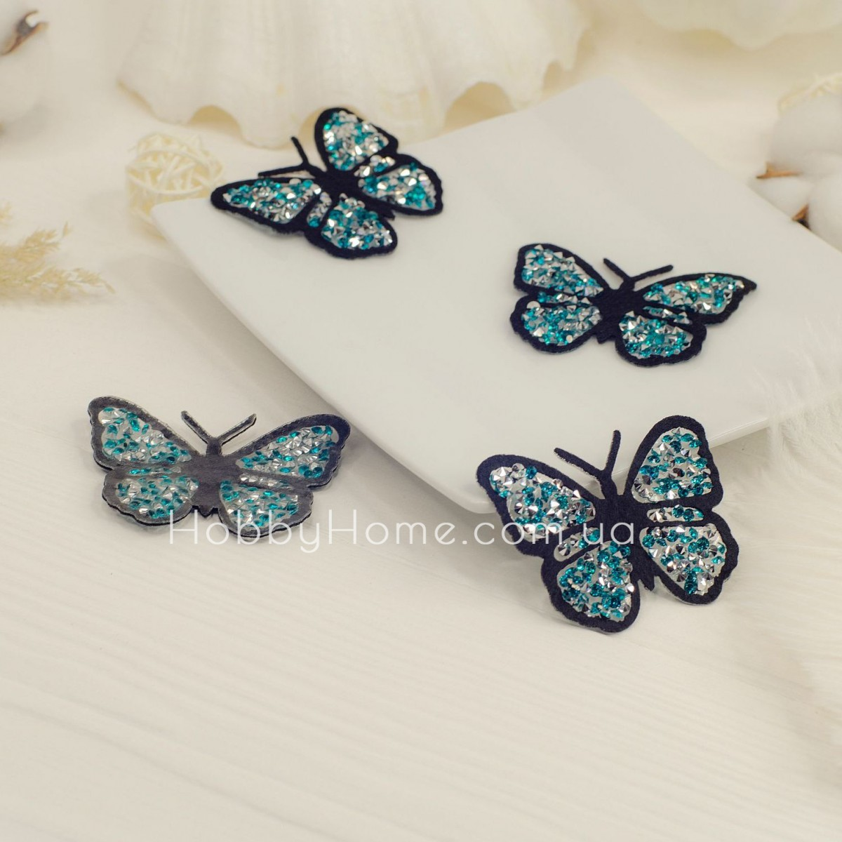 Метелик стразовий , бірюза