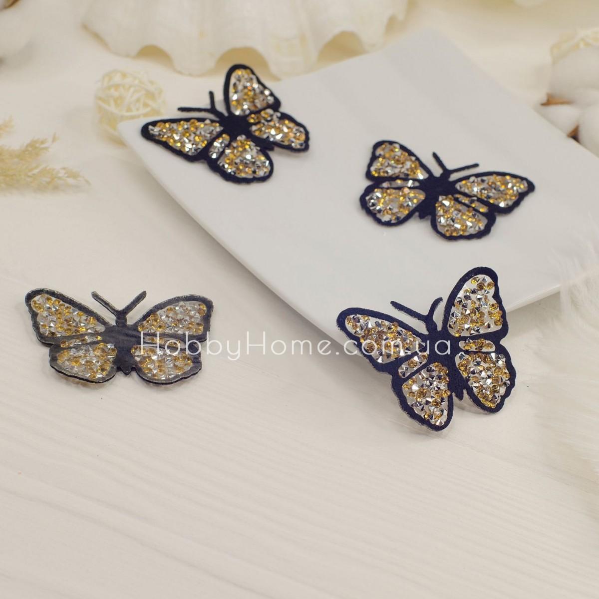 Метелик стразовий , золото