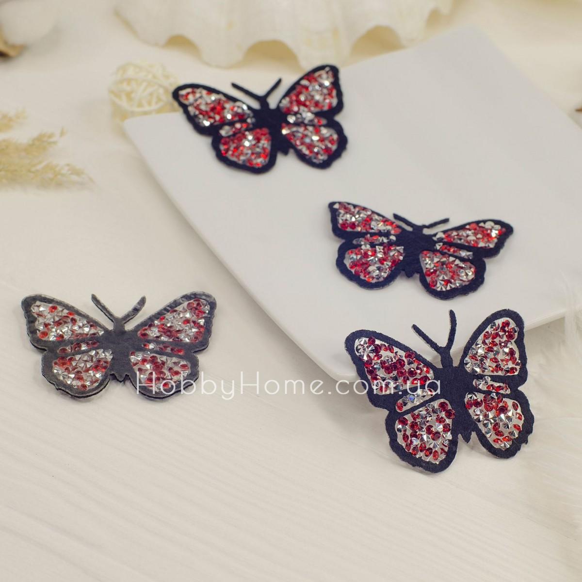 Метелик стразовий , червона
